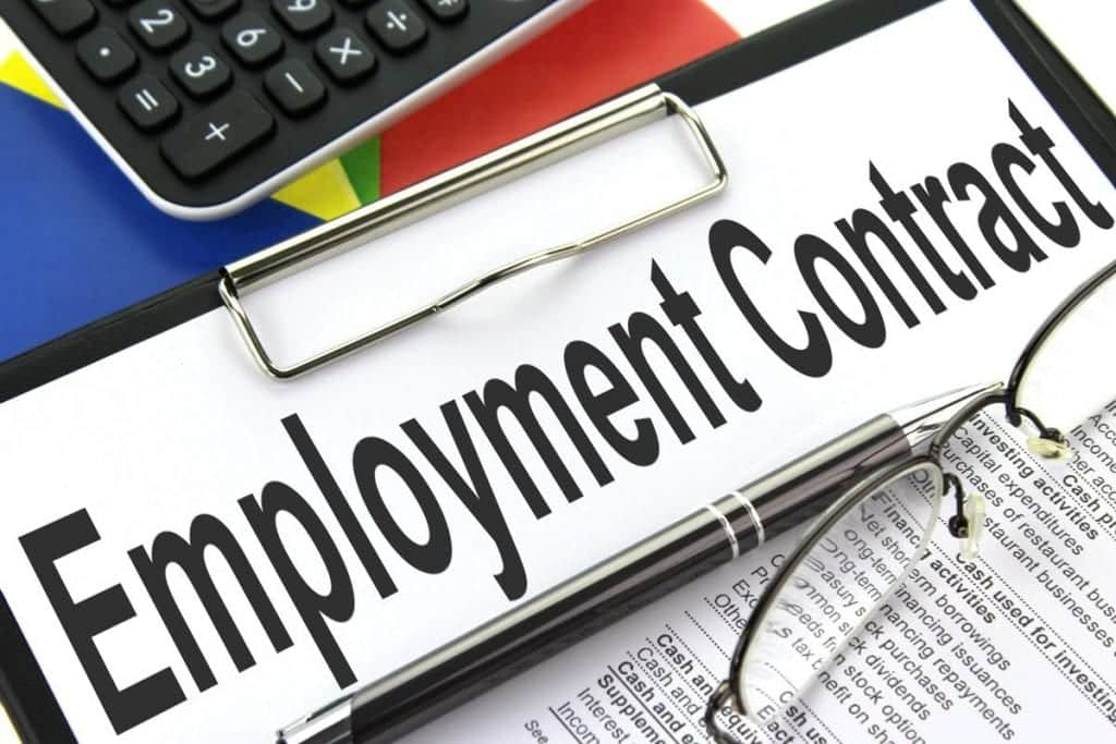Wage Hosting Employment Contract